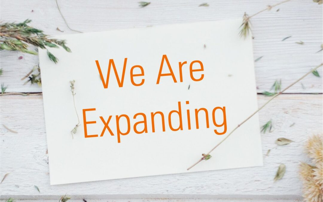 We Are Expanding